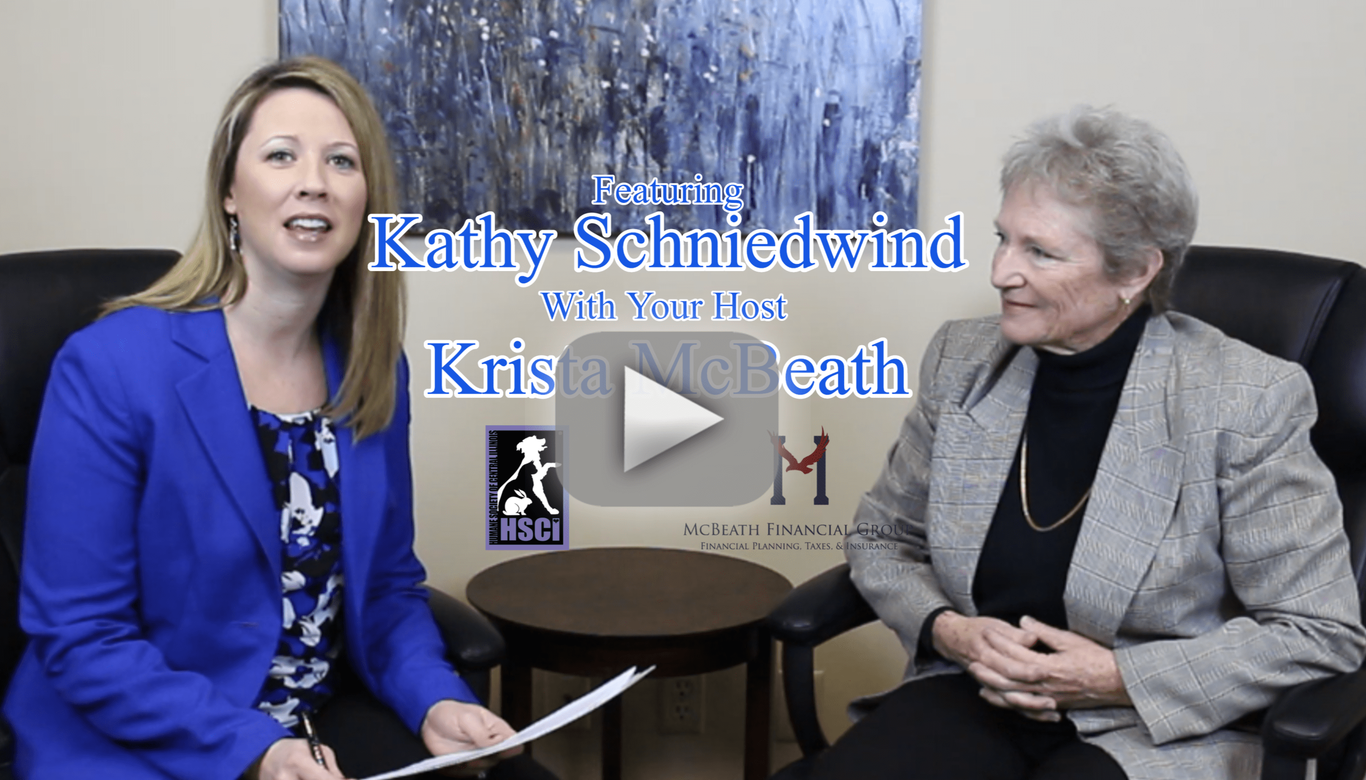 Financial Focus on Charity Support with Kathy Schniedwind, Humane Society of Central Illinois