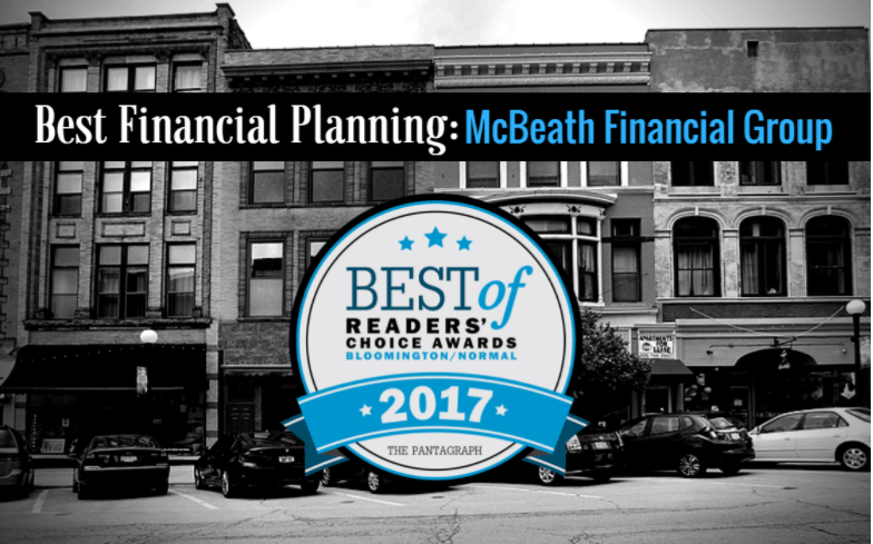 McBeath Financial Group Voted The Best Financial Planner by Pantagraph Readers!